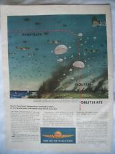 VTG 1943 Original Magazine Ad Shell Gas Gasoline Penetrate Isolate Obliterate
