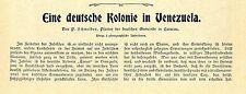 Una colonia alemana en Venezuela (Tovar) Historical memorabilia 1902