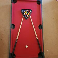 Riley Kidz Pool Table Red With Balls and Cues - Good Condition - 3ft
