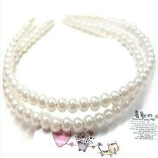 Women Wedding Charm Pearl Hair Hoop Band Elegant Headband Hairpin Cute Romantic