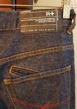 Mens ROCAWEAR R+ ORIGINAL-FIT Blue Jeans Size 34x33 Selvedge