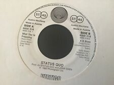 STATUS QUO . WHAT YOU'RE PROPOSING ./  A B BLUES  . 1980 . NR MINT