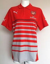 ARSENAL S/S RED LEISURE HOOPED POLO SHIRT BY PUMA SIZE ADULTS MEDIUM BRAND NEW