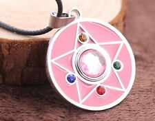 Sailor Moon Pink Diamond Star Anime Pendant Necklace with String 1X