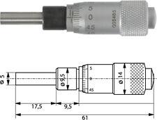Einbaumessschraube 0-15 mm plan, Einbaumikrometer, 10-000-150-100