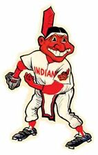 CLEVELAND INDIANS  Baseball   MLB  Vintage style 1950's  Travel Decal Sticker