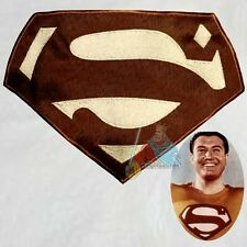 Superman Suit Replica Logo Embroidered Big Patch George Reeves Brown Costume