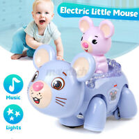 Electric Toy LED Light & Music Kids Mouse Cute Colorful Walking Toy Gift