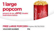 Amc Large Popcorn and Large Coke - Exp 6/30/2022 - 24 Hour Delivery
