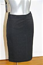 luxueuse jupe laine noire YVES SAINT LAURENT variation T 38 (I 42) COMME NEUVE