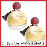 2 X FAR AWAY Eaux de Parfum  en vapo de chez AVON : LIVRAISON RAPIDE !!