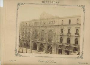Vintage 10 x 12 Armoire Photo Grand Teatre Del Liceu Barcelone Espagne