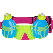 FuelBelt Helium H2O 2-Bottle Hydration Race Belt - Maui PinkHonolulu Blue/Lagoon