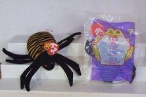 Mcdonald's Ty Teenie Beanie Spinner the Spider 2000 #7 NEW