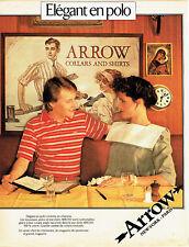 Publicité Advertising 018  1986  Arrow  polo chemise homme