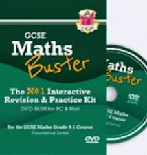 CGP GCSE grade 9-1 course Foundation Maths Buster Revision & Practice DVD-ROM