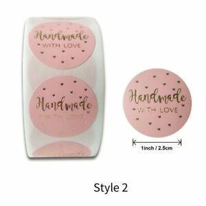 500pcs Cute Pink Thank You Your Order Labels Decoration DIY Bag Gift Handmade