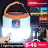 Rechargeable 280W LED Camping Tent Light USB Solar Lantern Outdoor Garden Lamp