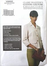 OOP VOGUE 8692 CLAIRE SHAEFFER'S Custom Couture TAILORED JACKET PATTERN SZ 6-12
