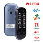W1 Pro 4G WiFi BT Smart Voice Translator 8GB Real Time 75 Languages Translation
