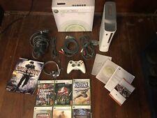 Microsoft Xbox 360 Pro Console Bundle 60GB White HDMI w/6 Games + Controller