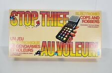 STOP THIEF Electronic Cops & Robbers Board Game Parker Brother 1979  RARE FR/EN