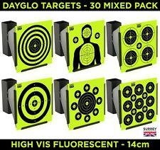 HIGH VIS DAYGLO Air Rifle Pistol Gun BB Airsoft Shooting 14cm Targets 30 Mix Pk