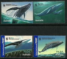 Australia 2006 Endangered Whales Down Under set of 4 with WWF Logo MNH