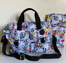 NEW! KIPLING PALM PRINT BABY DIAPER BAG W/ CHANGING PAD $149 SALE