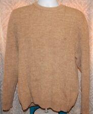 CHAPS Ralph Lauren LS Tan Heather Cable Style Pullover Crew Sweater Men's XL