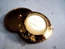 1pc HUGE BEAUTIFUL HAND-MADE PEARL/TORTOISE WITH GOLD METAL LARGE BUTTON 38mm