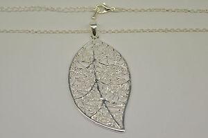 Necklace Silver Leaf Design