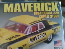 New..... 1/25 model car kit, 1964 dodge maverick ss, Lindbergh model kit.......