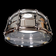 CHAOS METAL FORGE 14'' x 6.5'' BEADED BRASS SNARE DRUM LUDWIG BLACK BEAUTY MAGIC