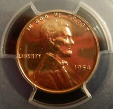 1954 Lincoln Cent PCGS Graded Proof 65 Red - Deep Mirrored Surfacesd
