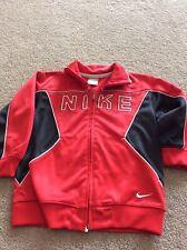 Nike Boy's Red & black Full Zip Track Jacket Size 4