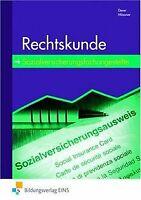 Rechtskunde. Sozialversicherungsfachangestellte. Lehr-/F... | Buch | Zustand gut