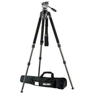 Miller Solo DV Alloy Tripod (black) with DS-20 Fluid Head #1643 NEW