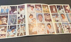 1978 BASEBALL UNCUT SHEET SSPC NY YANKEES~27 CARDS~MUNSON~HUNTER~JACKSON~PINIELL