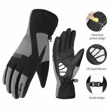 Bicycle Winter Gloves Outdoor Waterproof Thermal Full Finger Cycling Gloves Gray