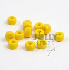 Opaque Yellow 100pc Preciosa Czech Czechoslovakian Glass 9x6mm Crow Pony Beads