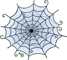 Molly Blooms - Spider's Web [MB0065D] stamp critter cobweb halloween spin spooky