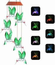 Upgraded Solar Wind Chime, Color-Changing solar LED Mobile wind