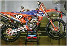 MOTOCROSS POSTER KTM 250SX TROY LEE DESIGNS supercross fmf racing lucas oil