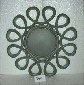 Wall Mirror Round Home Office Living Room Swirl Wall Panel MDF & Glass