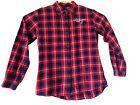 New England Patriot's Women's NFL Team Flannel Button-Up Long Sleeve Shirt XL