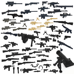 WW2 WWII ARMY weapons & MODERN MACHINE GUN compatible for LEGO FIGURES UK STOCK