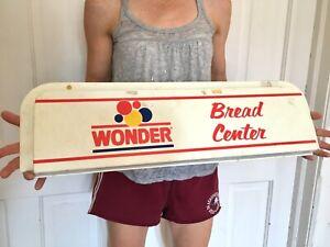 Vtg Original WONDER BREAD Sign Bakery General Grocery store Soda Gas Oil Feed