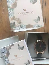 Ladies Olivia Burton /John Lewis Fashion Rose Gold Leather Big Dial Watch