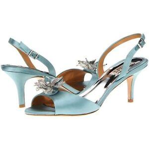 Badgley Mischka Clare wedding formal slingback sandals open toe shoes Blue 6 7 8